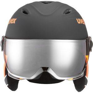 Uvex Junior Visor Pro, Black Orange Mat 1