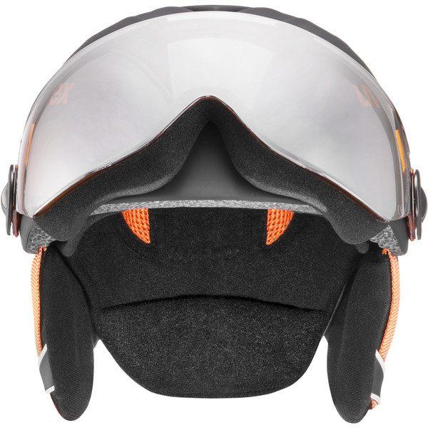 Uvex Junior Visor Pro, Black Orange Mat 2