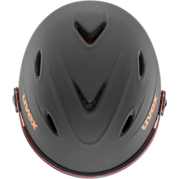 Uvex Junior Visor Pro, Black Orange Mat