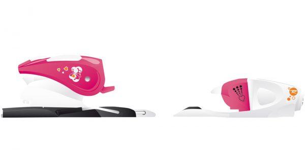 Slēpju stiprinājumi COMP KID Princess 25 L white pink