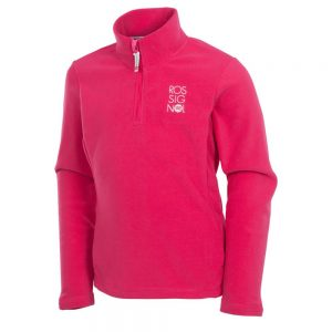GIRL 1/2 ZIP FLEECE Cochineal