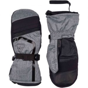 Mittens Ski Rossignol Piste Print M Heather Grey