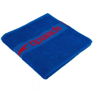 Speedo Border Towel, Neon Blue Lava Red 2