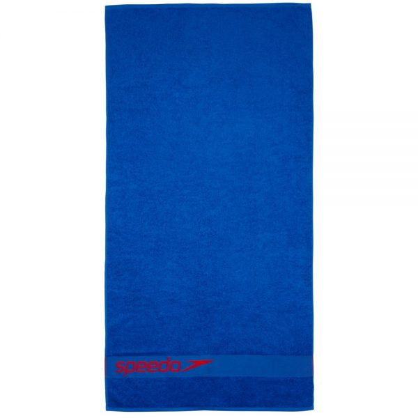 Speedo Border Towel, Neon Blue Lava Red 3