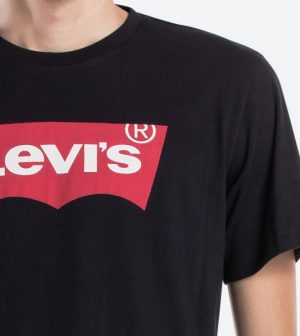 Levis Bat Logo Tee Black 17783 0137 1