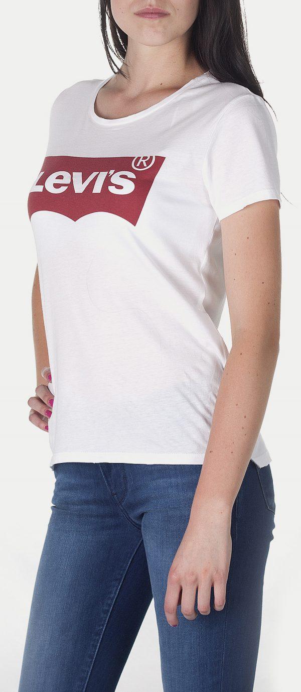 Levis Batwing Logo Women Tee White 17369 0053 2