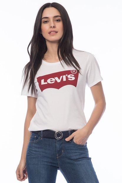 Levis Batwing Logo Women Tee White 17369 0053 3
