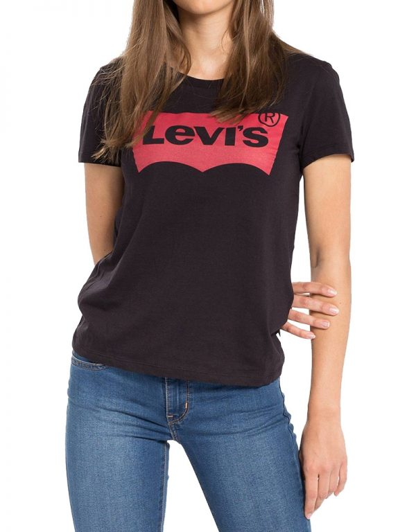 Levis Large Batwing Women T Shirt Black 17369 0201