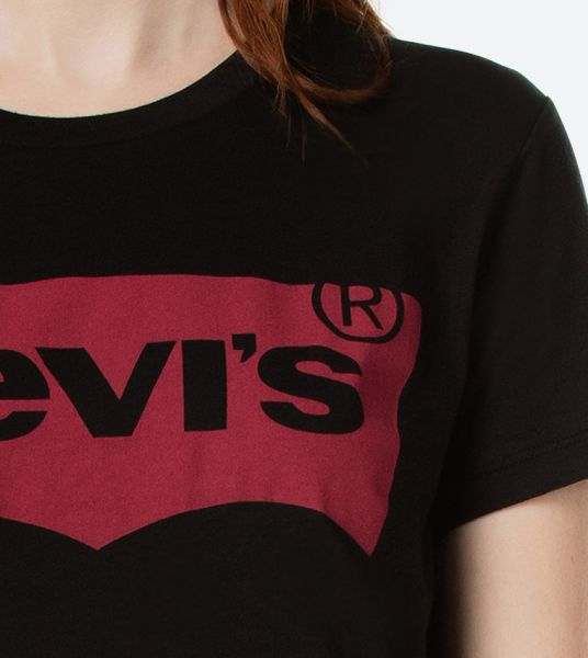 Levis Large Batwing Women T Shirt Black 17369 0201 2