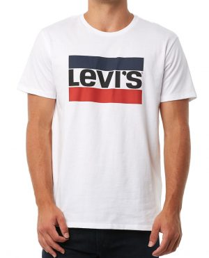 Levi S Logo Graphic T Shirt White 39636 0000 1